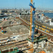 2005.04 - 'Building crane in the high sky'- Amsterdam photo & pictures, above the waterfront of Amsterdam Central Station; geotagged & public domain ; Dutch city photography by Fons Heijnsbroek, The Netherlands by Amsterdam photos, pictures, foto's - Netherlands