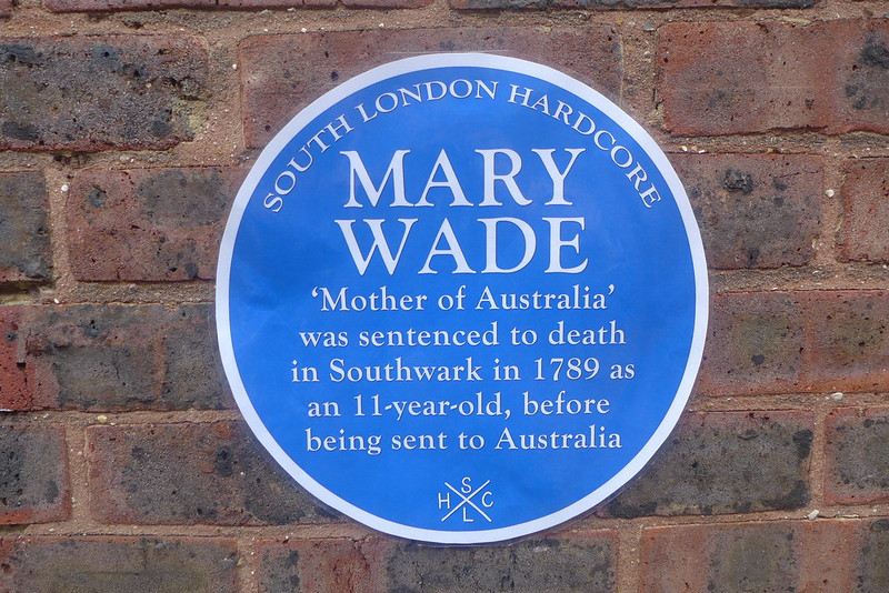 Mary Wade blue plaque