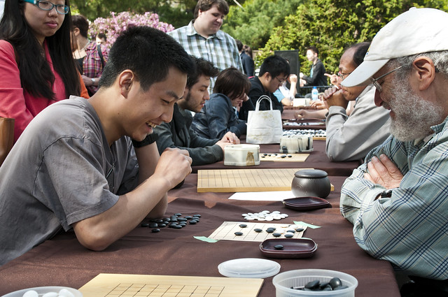 The game of go with Brooklyn Go Club. Photo by Mike Ratliff.