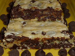 Chocolate Chip Cake Mix Brownies....