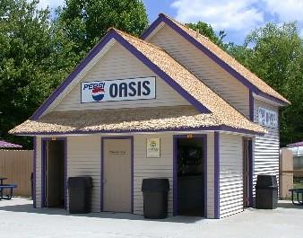 Pepsi Oasis fountain