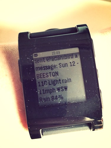 Weather forecast to my Pebble