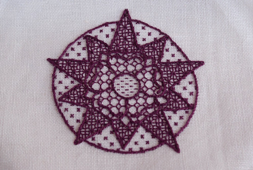 Blackwork Rose and Star cup cover