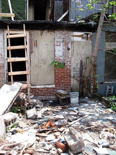 abandoned house, Baltimore, rear (c2013 FK Benfield)