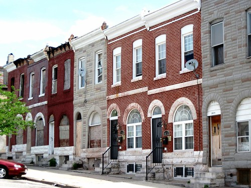 two houses nicely rehabbed, four still vacant (c2013 FK Benfield)