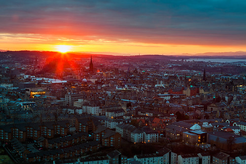 Edinburgh - Dramatic Sunset