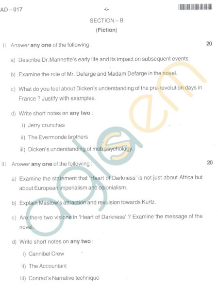 Bangalore University Question Paper Oct 2012:III Year B.A. Examination - Optional English (Paper IV)(Old Scheme)