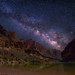"Milky Way spanning over Grand Canyon and Colorado River by IronRodArt - Royce Bair (""Star Shooter"")"
