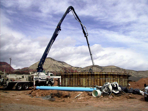 Thanks to USDA and the American Recovery and Reinvestment Act, a new water tank is constructed in Sigurd, Utah. Photo courtesy of the Town of Sigurd. Used with permission.