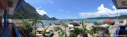 View from Philippine Ports Authority (PPA) Canteen in El Nido, Palawan