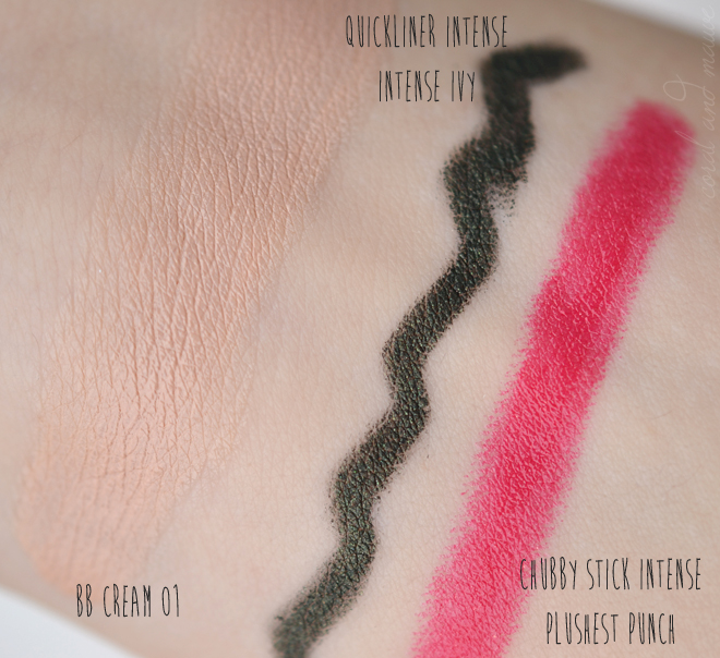 5 Lieblinge...Clinique Swatches