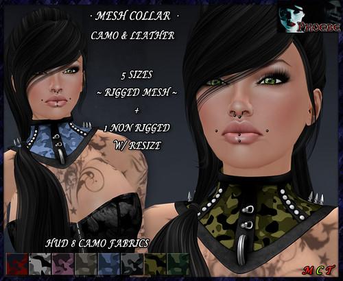 *P* Jessica MESH Collar ~8 Camo Fabrics HUD~