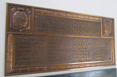 Edinburgh Stock Exchange War Memorial