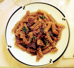 Crash test fusilli ai porcini