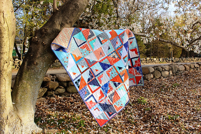 Do Good Stitches Log Cabin/Half Square Triangle Quilt