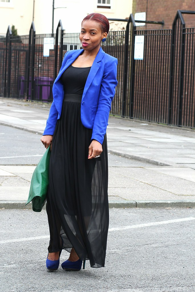 blue blazer, how to wear a blue blazer, women's blue blazer, blue blazer trend