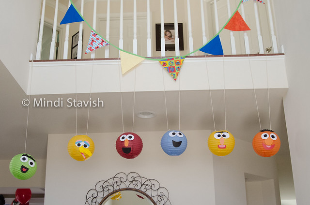paper lantern sesame street characters