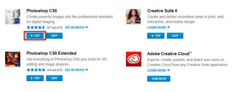 Установка программы Adobe Photoshop