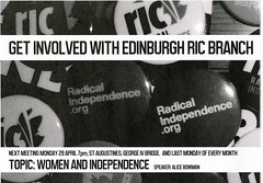 Radical Independence Edinburgh Branch leaflet, April 2013