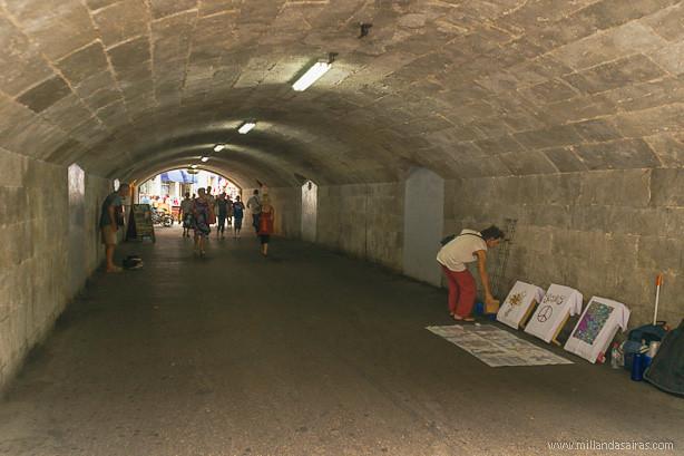 Tunel de entrada a Gibraltar