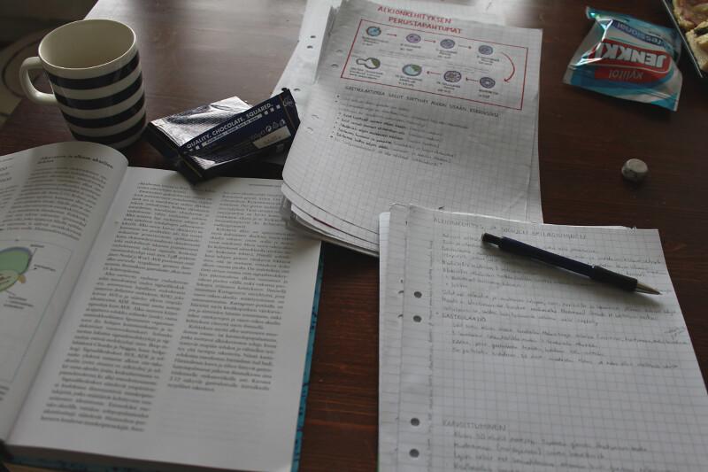 opiskelua