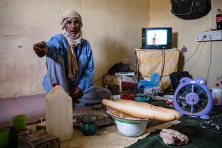 La comida en el campamento de refugiados