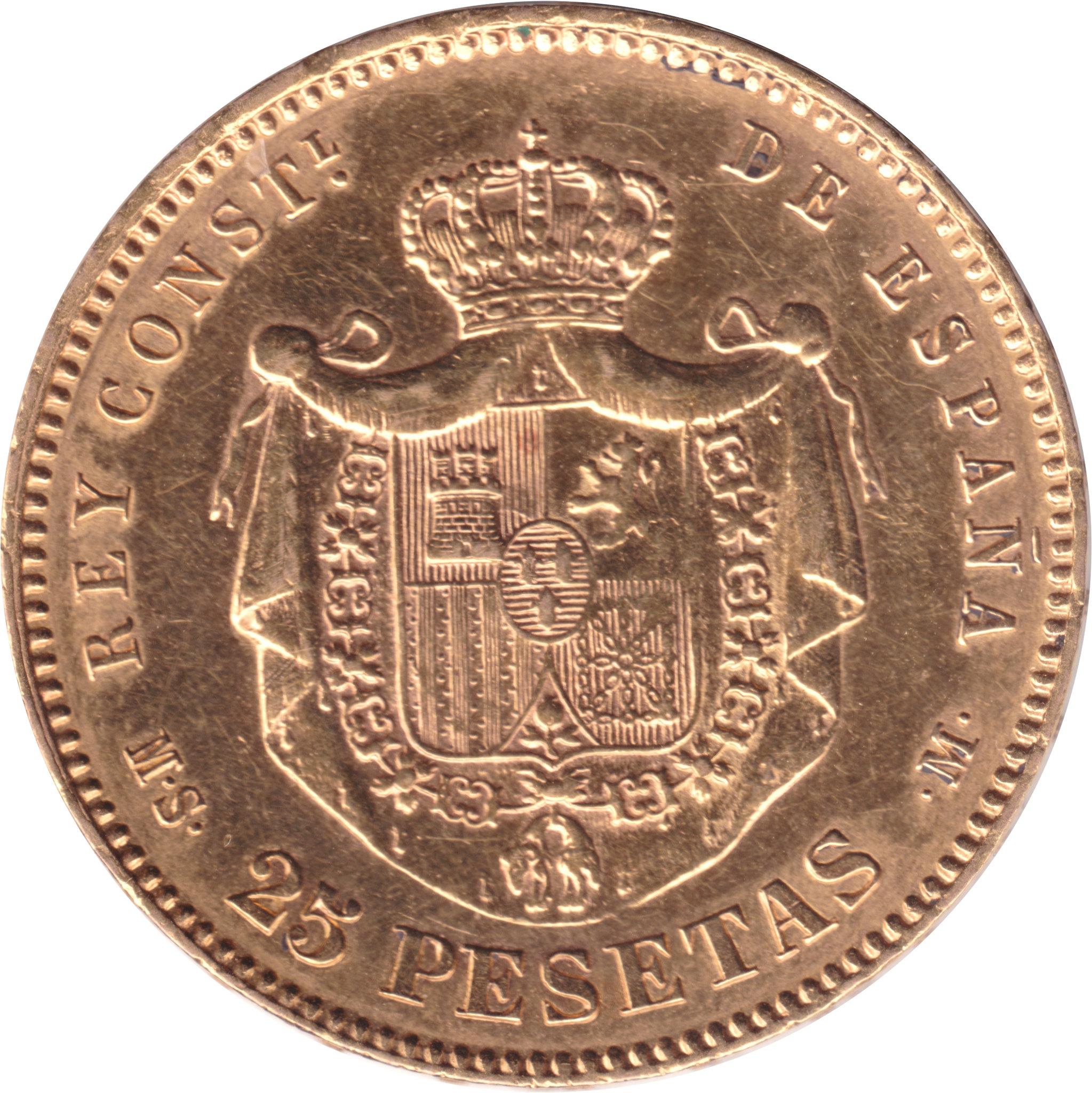 25 Pesetas Alfonso XII 1884 (subasta Soler 7 de mayo) 8743361713_145a17e366_k