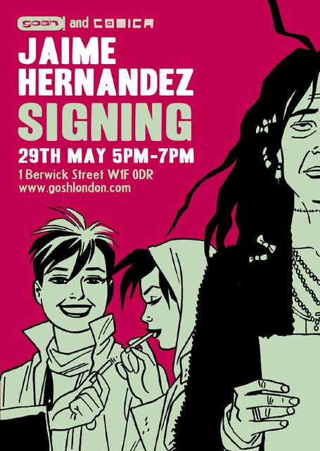 Jaime Hernandez Signing at Gosh! Comics London!
