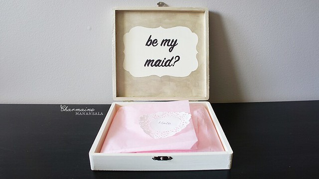 Askin' My Girls - maid of honor box