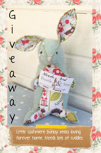 Giveaway bunny seeking kind new home bustle sew for New home giveaway