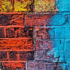 I for Colour #wabi_sabi_walls #filthyfacades #texture #beautifuldecay #walls #decay #abstract #foundabstracts                      #random_features #urbex #likeapainting #colour #brick #rsa_preciousjunk #Brixton #London #SW9