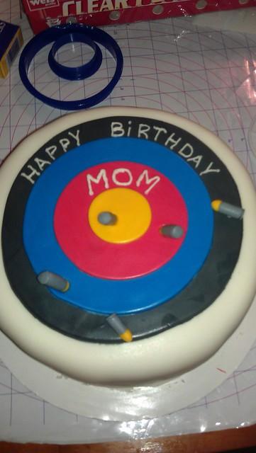 Target Shooting Birthday Cake