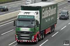 Volvo FH 6x2 Tractor - PX61 BJU - Lucy Rebecca - Eddie Stobart - M1 J10 Luton - Steven Gray - IMG_0285