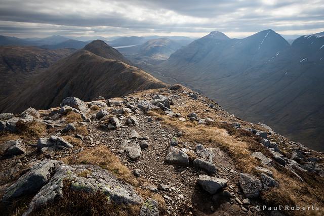 The ridge from Stob Dubh, Buachaille Etive Beag [IMG_2676]
