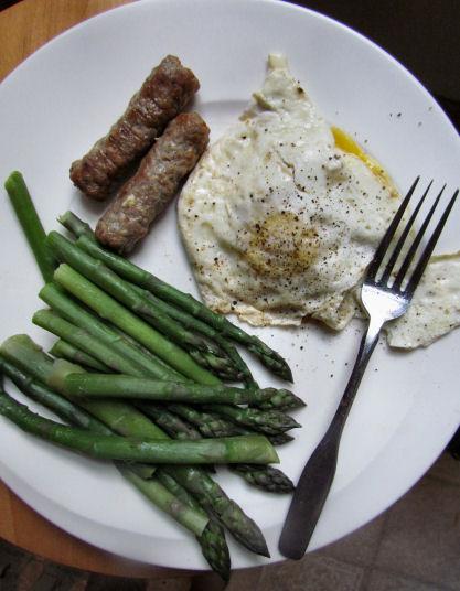 Eggs Asparagus Sausage