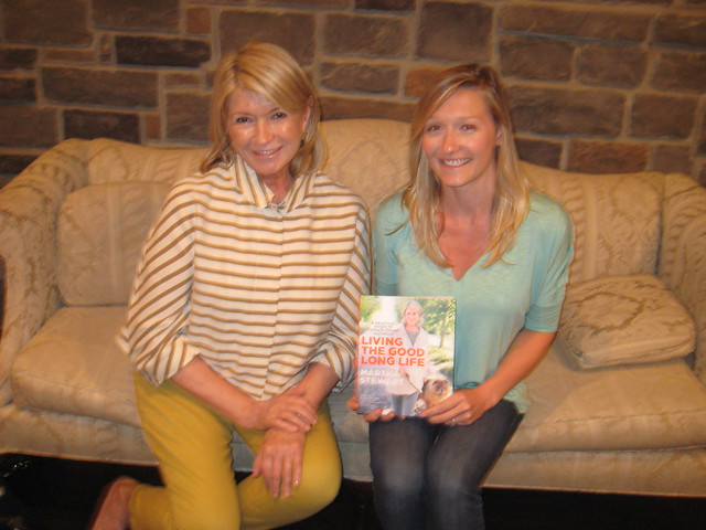 Martha Stewart with Melissa Beveridge at her recent book tour
