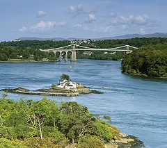 A beautiful stretch of the Menai Strait when we sail down on our 2 hour cruise