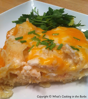 Slow Cooker Cheesy Chicken Lasagna from What's Cooking in the Burbs