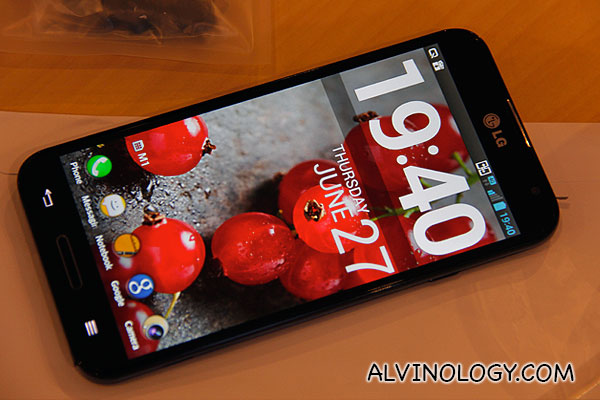 The beautiful LG Optimus G Pro
