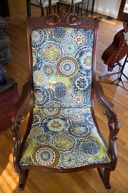 I recovered an old rocking chair