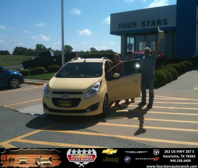 thank you to claude morrow on the 2014 chevrolet spark from gene klinkerman and everyone at four. Black Bedroom Furniture Sets. Home Design Ideas