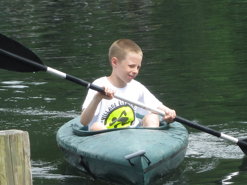 Andrew kayaking