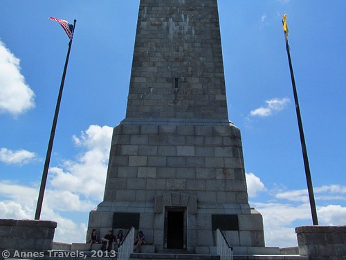 The entrance to the NJ Highpoint Monument, High Point State Park, New Jersey