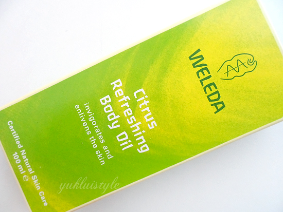 Weleda Citrus Refreshing Body Oil review and swatch