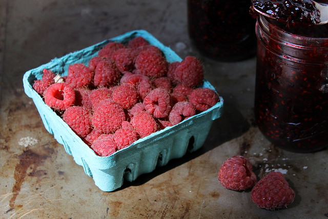 raspberries, having their moment in the sun