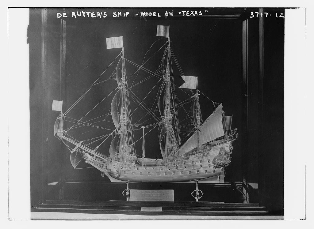 De Ruyter's ship - model on TEXAS (LOC)