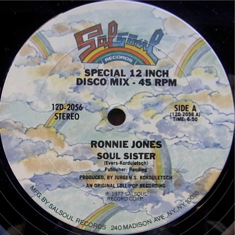 Ronnie Jones - Soul Sister 12