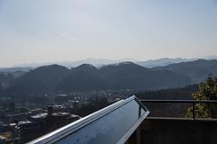 龍崖山の遥か背後に大岳山