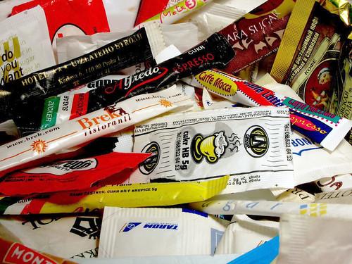 各種糖包。(來源:Geir Halvorsen)