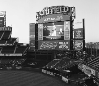 Citi Field Scoreboard - Before First Pitch; Willets Point, New York